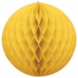 sfera di carta gialla a nido d'ape 25 cm