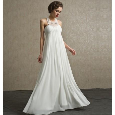 Abito da sposa e cerimonia stile impero Mod. Dina - LeMieNozze SHOP 84d2d04d18c