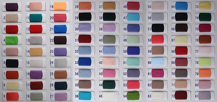 Tabella dei colori per Raso