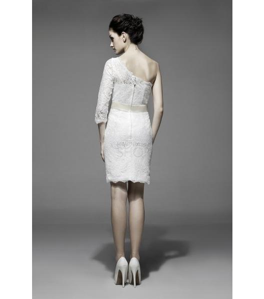 Immagine di un abito da sposa corto