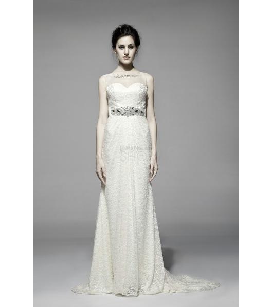 Immagine di un abito da sposa scivolato