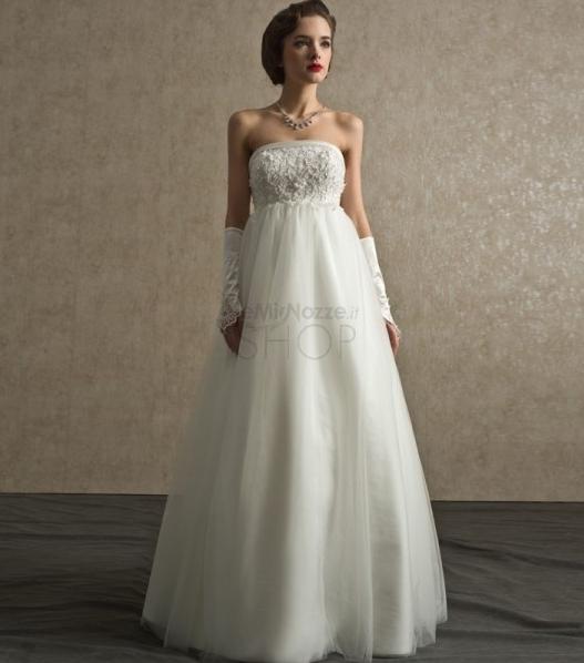 Immagine di un abito da sposa stile impero