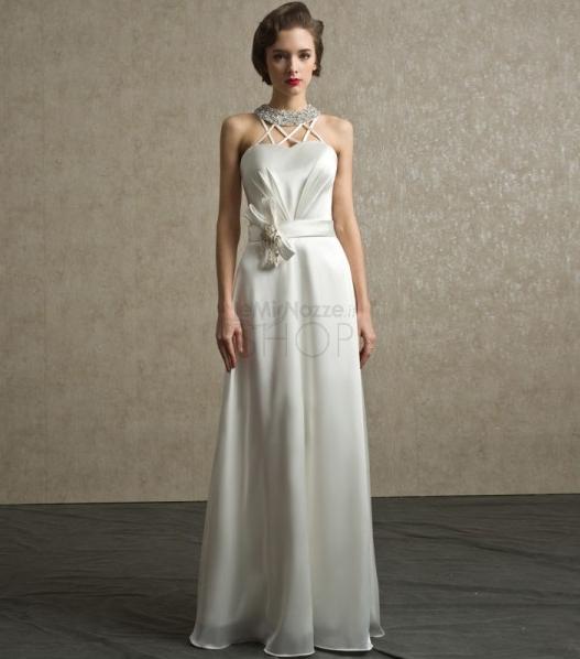 Immagine dell'abito da sposa scivolato modello Diana
