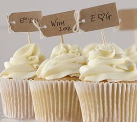 Bandierine di ispirazione vintage per cupcakes