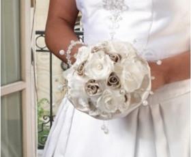 Bouquet sposa rosa avorio