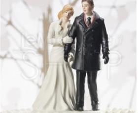 cake topper matrimonio inverno