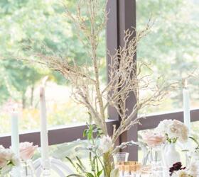 Centrotavola per banchetto di matrimonio in legno