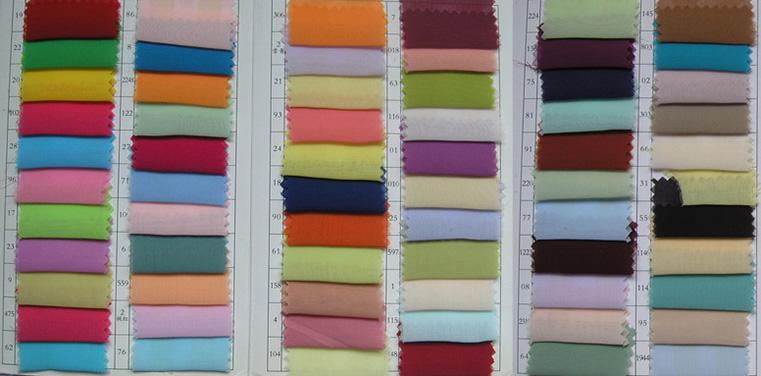 Tabella dei colori per Chiffon n. 1
