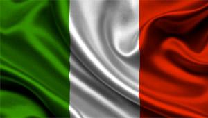 bandiera italiana in tessuto