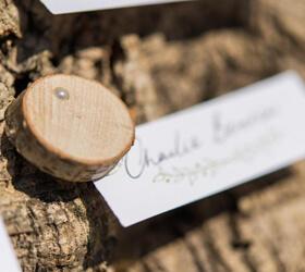 dischetti segnaposto in legno di betulla