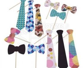 Mascherina cravatte e papillon