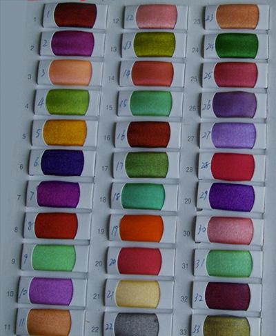Tabella dei colori per Organza Sfumata Cangiante