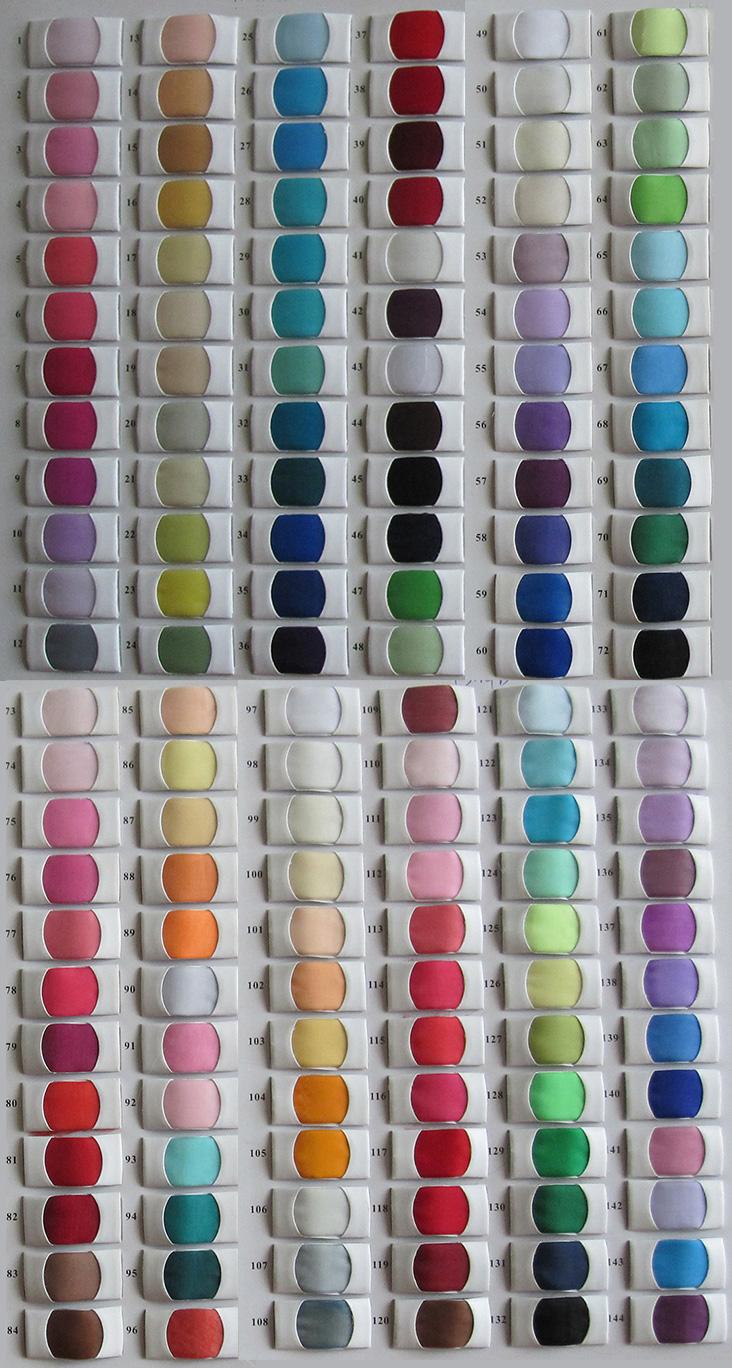 Tabella dei colori per Organza