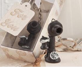 Portachiavi a forma di cornetta di telefono vintage