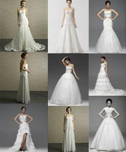 Collage abiti da sposa