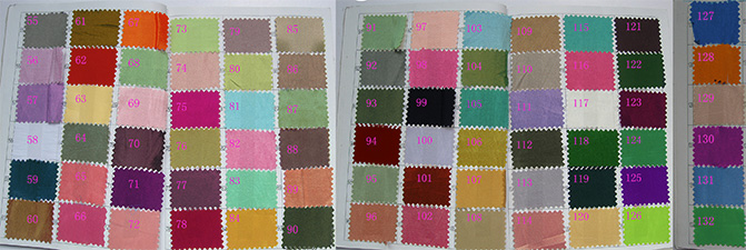 Tabella dei colori per Taffetà n. 2