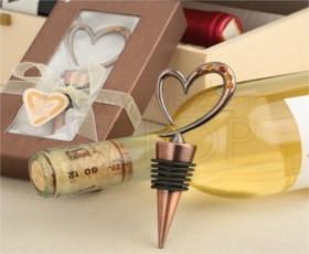 Tappa bottiglie a forma di cuore con brillantini