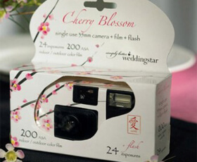 Macchina fotografica usa e getta fiori di ciliegio