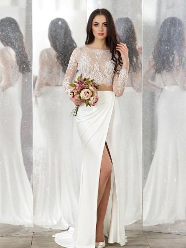 Abiti Da Sposa E Cerimonia.Abito Da Sposa E Cerimonia Scivolato Mod Carlotta