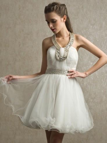Abito da sposa e cerimonia corto Mod. Anastasia